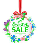 Easter sale banner round Stock Images