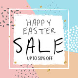 Easter sale banner. Vector illustration. Colorful trendy abstract background. Stock Photography