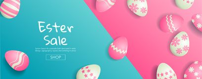 Easter Sale ,Bright Sweet fashion Style.  Pop Art. Creative Retr. O Design ,banner. Hipster Trendy ,Eggs Still life , Minimal Fun. Vanilla Pastel Color Royalty Free Stock Photo