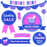 Easter Sale Clip Art. Badges, banners, graphic elements and labels advertising an Easter Sale Stock Photos