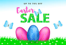 Easter Sale colorful background Royalty Free Stock Image