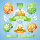 Easter sale designs and stickers collection. Stock Photo