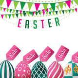 Easter sale eggs background. EPS 10 vector Royalty Free Stock Photo