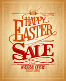 Easter sale, holiday savings design. Royalty Free Stock Photography