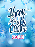 Easter sale with the holiday signs Royalty Free Stock Photos