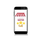 Easter Sale Online Shopping Special Offer Holiday Banner. Flat Vector Illustration Stock Photography