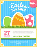 Easter sale poster Royalty Free Stock Photos