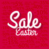 Easter Sale poster. Sale poster. Holiday sale background. Vector easter sale poster red eps 10 Stock Photo