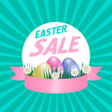 Easter sale poster. Vector Stock Photo