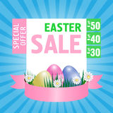 Easter sale poster. Vector Royalty Free Stock Images