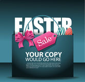 Easter sale shopping bag background. EPS 10 vector, grouped for easy editing Stock Images