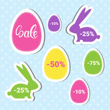 Easter Sale Shopping Special Offer Decorated Colorful Egg Holiday Banner Royalty Free Stock Photos