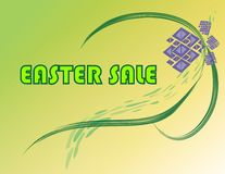 Easter Sale Sign Royalty Free Stock Images