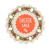 Easter sale sticker template Stock Photo