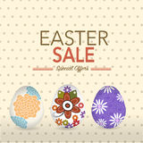 Easter Sale Tag with rabbit and egg Royalty Free Stock Photo