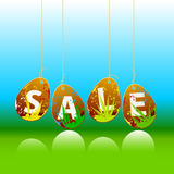 easter sale tags / floral vector illustration Stock Photography