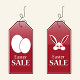 Easter sale tags Royalty Free Stock Photography