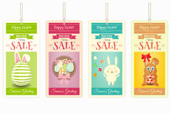 Easter Sale Tags. Isolated on White Background. Vector Illustration Royalty Free Stock Image
