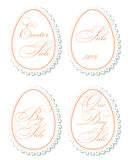 Easter sale tags Stock Images