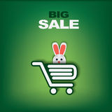 Easter sales template Stock Images