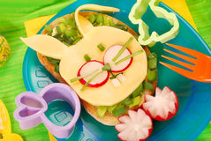 Easter sandwich for child Stock Photography