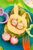 Easter sandwich for child Royalty Free Stock Image