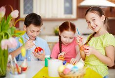 Easter schoolwork Royalty Free Stock Image