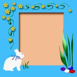 Easter scrapbook frame Royalty Free Stock Photography