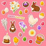 Easter scrapbook set vector illustration