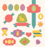Easter scrapbook set - labels, ribbons and other e Royalty Free Stock Photography