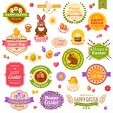 Easter scrapbook set. Labels, ribbons and other Stock Images