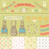 Easter scrapbook set Royalty Free Stock Photography