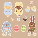 Easter scrapbooking set vector illustration