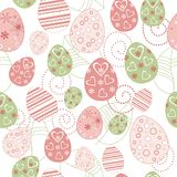 Easter seamless. Vintage retro drawing Stock Images
