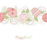 Easter seamless. Wallpaper vintage retro drawing Stock Images