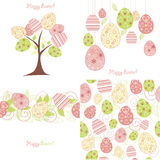 Easter seamless. Wallpaper vintage retro drawing Stock Photography