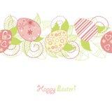 Easter seamless. Wallpaper vintage retro drawing Royalty Free Stock Photos