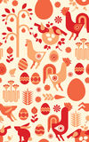 Easter seamless background. Decorative seamless background with easter silhouettes vector illustration