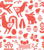 Easter seamless background. Decorative seamless background with easter silhouettes stock illustration