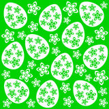 Easter seamless background green Royalty Free Stock Image