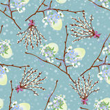 Easter seamless background in vintage style. Vector illustration Stock Photography