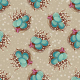 Easter seamless background in vintage style. Vector illustration Royalty Free Stock Images