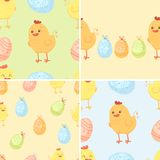Easter seamless backgrounds Royalty Free Stock Image