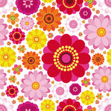Easter seamless floral background. An illustration for your design project Royalty Free Stock Photography