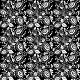 Easter seamless monochrome pattern Stock Photo