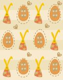 Easter seamless pattern Stock Image