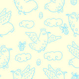 Easter seamless pattern Royalty Free Stock Photo