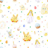 Easter Seamless Pattern Royalty Free Stock Photos