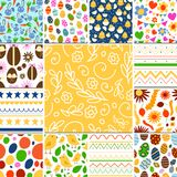 Easter seamless pattern background design vector holiday celebration party wallpaper greeting colorful egg fabric Royalty Free Stock Image