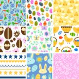 Easter seamless pattern background design vector holiday celebration party wallpaper greeting colorful egg fabric Royalty Free Stock Photos